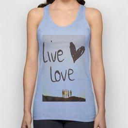 Live Love Unisex Tank Top