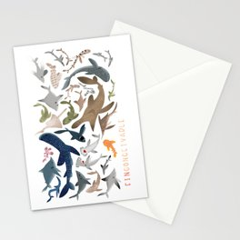 "FINconceivable Still ""Sharks"" Stationery Cards"