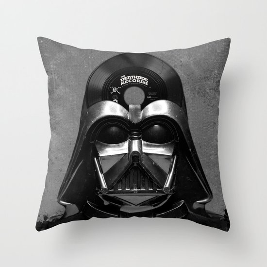 Vader Vinyl Throw Pillow by Beery Method Society6