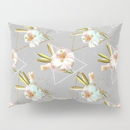 Botanical blooming with geometric 02 Pillow Sham