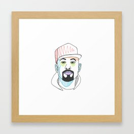 The Rapper-a-Day Project | Day 53: B-Real Framed Art Print