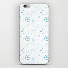 Blockhead Endpapers iPhone & iPod Skin