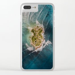 Flat Island Clear iPhone Case