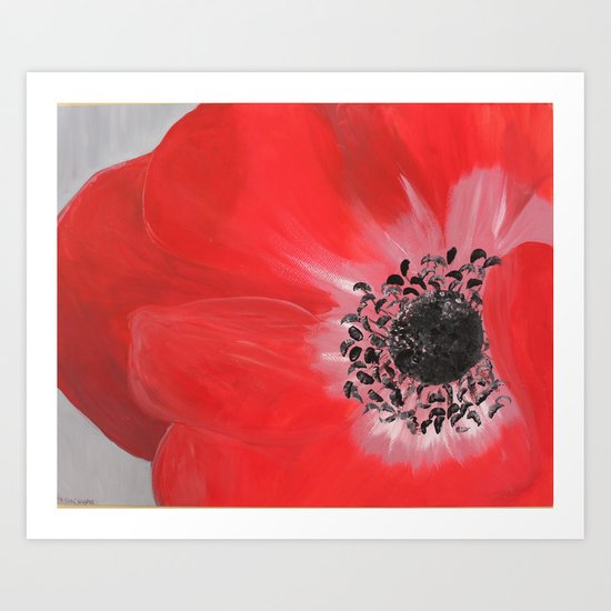 """oh dear poppy"" Art Print"