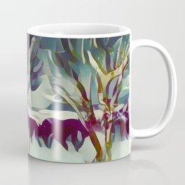 3 Winter Trees Deep Maroon Purple by CheyAnne Sexton Coffee Mug