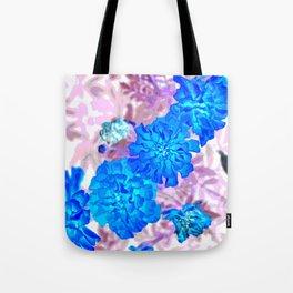 Blue Marigolds Tote Bag