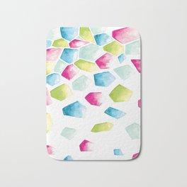 Watercolour Crystals | Blue, Pink and Green Bath Mat