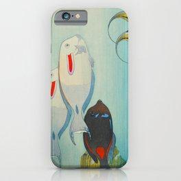 Fishes of Honolulu Hiroshi Yoshida Vintage Japanese Woodblock Print iPhone Case