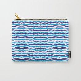 Blue Modern Pattern Art Design Carry-All Pouch