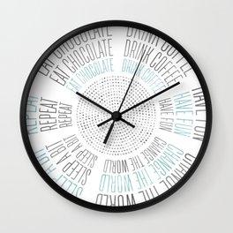 GRAPHIC ART Life Circles | blue Wall Clock