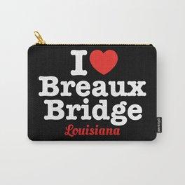 I Heart Breaux Bridge (Dark Background) Carry-All Pouch