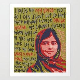 Malala Yousafzai. Art Print