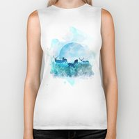 twilight Biker Tanks featuring Twilight by Lynette Sherrard Illustration and Design