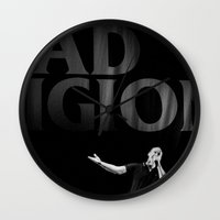 religion Wall Clocks featuring bad Religion by David BASSO