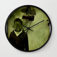 island Wall Clocks featuring ISLAND by oppositevision