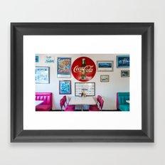 Diner Route 66 Framed Art Print
