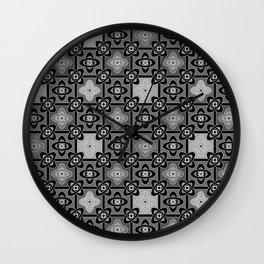 6 Oriental patterns Wall Clock