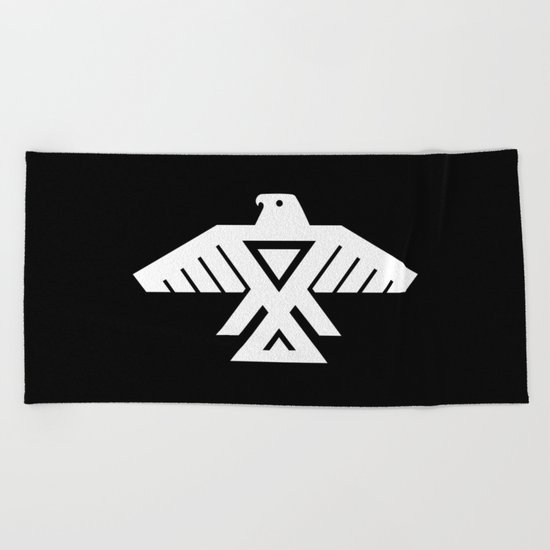 Thunderbird flag - Inverse edition version Beach Towel