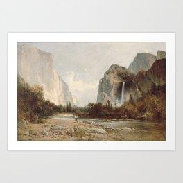 Bridal Veil Falls. Yosemite Valley by Thomas Hill 2 Art Print