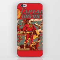 captain iPhone & iPod Skins featuring Captain Obvious! by Joshua Kemble