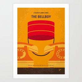 No977 My The bellboy minimal movie poster Art Print