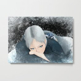 Icy Glare Metal Print