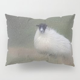 Moorland sheep  in the snow Pillow Sham