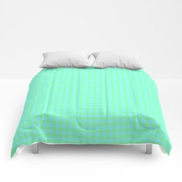 Green On Blue Plaid Comforters
