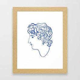 Ancient profile Framed Art Print