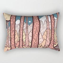 An autumn forest walk  Rectangular Pillow