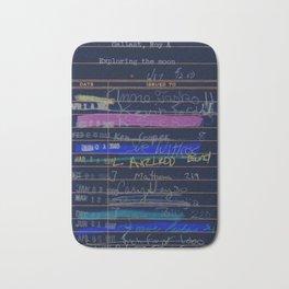 Library Card 3503 Exploring the Moon Negative Bath Mat
