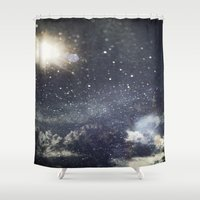 starry night Shower Curtains featuring Starry Night  by Jane Lacey Smith
