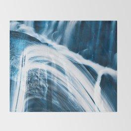 Blue Banshee Falls Throw Blanket