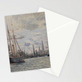 Claude Monet - La Seine à Rouen.jpg Stationery Cards