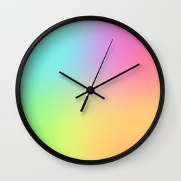 Blended Rainbow Wall Clock