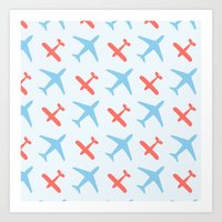 airplanes Art Prints featuring Airplanes by Daily Design