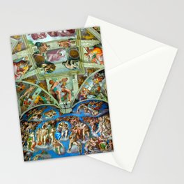 Spectacular Sistine Chapel Frescoes, Rome, Italy color photograph / photography / photographs Stationery Cards
