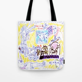 All In Goddess Time Tote Bag