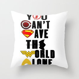 league justice Throw Pillow