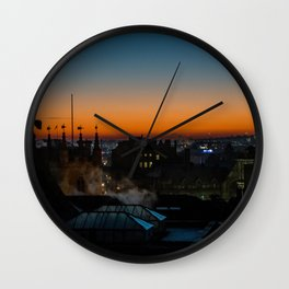 Geordie Sunrise, Newcastle UK Wall Clock