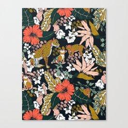Animal print dark jungle Canvas Print