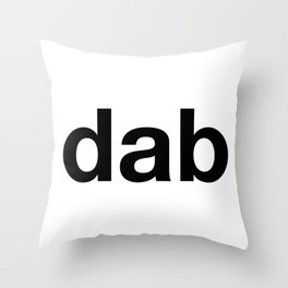 dab Throw Pillow