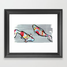 Rainbow Koi Framed Art Print