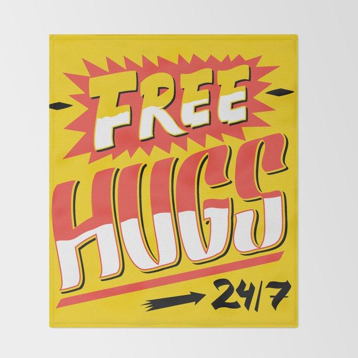 Free Hugs Cheap Love Throw Blanket