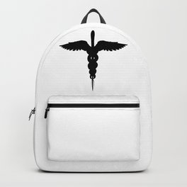 Caduceus Medical Symbol Isolated Backpack