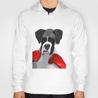 boxer Hoodies featuring Boxer by MsonArts