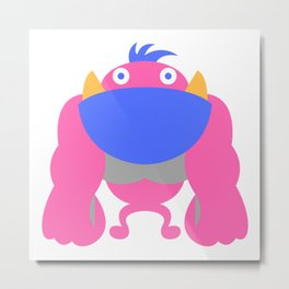 Cute Monster Metal Print