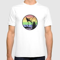 rockclimbing SMALL White Mens Fitted Tee