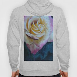 Pink and Yellow Rose painting Hoody