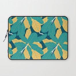 Tropicana Banana Leaves in Jungle Green + Banana Yellow Laptop Sleeve